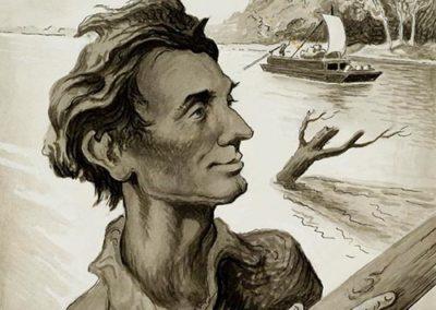 Illustrations for Virginia S. Eifert's 'Three Rivers South'